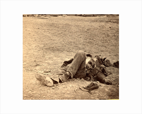 A dead rebel soldier, inside the Union picket lines, USA by Anonymous