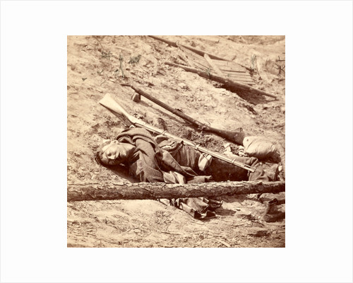 Dead Confederate soldier in the trenches, USA by Anonymous