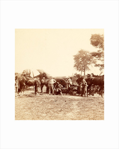 Army Blacksmith and Forge, Antietam, Sept, 1862, USA by Anonymous