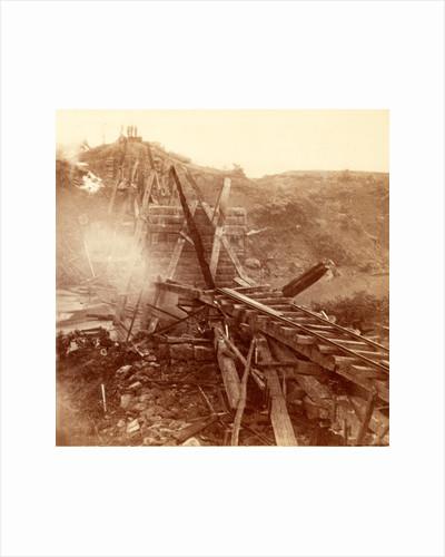 Destruction of a railroad bridge, USA by Anonymous