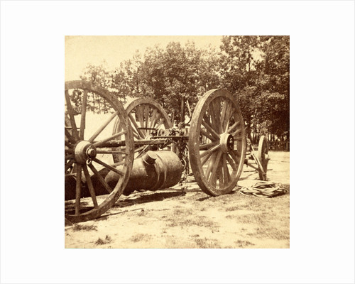 Same gun and sling cart as shown in no. 1051, showing how the gun is slung under the cart, USA by Anonymous