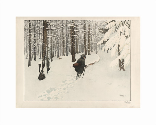A man walking in the snow by Anonymous