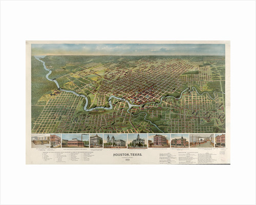 Houston, Texas (looking south) 1891 by Anonymous