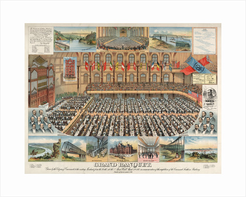 Grand banquet, given by the citizens of Cincinnati, to the visiting merchants from the south, at the Music Hall, March 18th 1880 by Anonymous