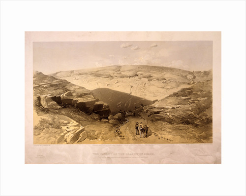 The valley of the shadow of death Caves in the Woronzoff Road behind the 21 gun battery by William Simpson