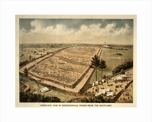Bird's-eye view of Andersonville Prison from the south-east by Anonymous