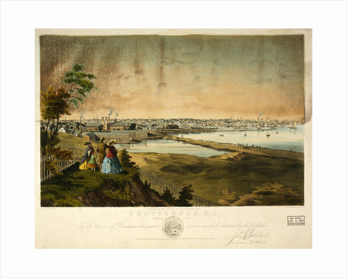 Providence, R.I., harbor view, taken from the grounds of Geo. W. Rhodes by John B. Bachelder