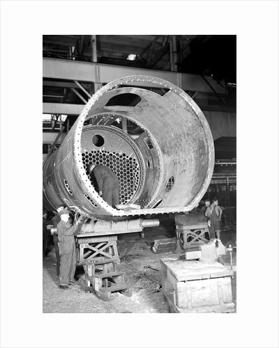 Eddystone, Pennsylvania - Railroad parts. Man at work, 1936 by Lewis Hine