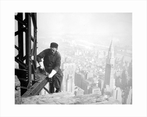 Photograph of a Workman on the Framework of the Empire State Building, 1936 by Lewis Hine