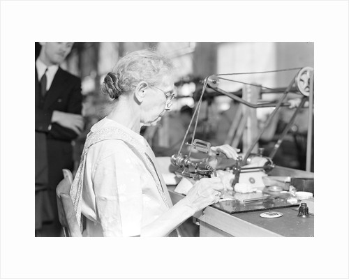 Lancaster, Pennsylvania - Hamilton Watch. Operation - polishing machine by Lewis Hine