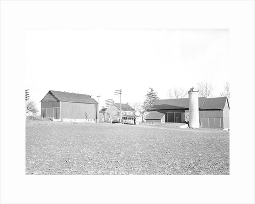 Lancaster, Pennsylvania - Housing. Better class farm on Harrisburg Pike showing barn and tobacco shed, 1936 by Lewis Hine