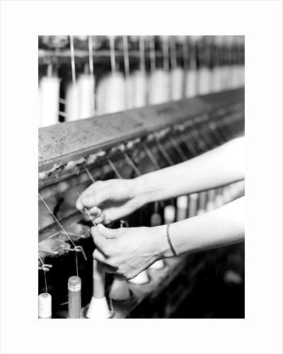 High Point, North Carolina - Textiles. Pickett Yarn Mill. Spinning by Lewis Hine
