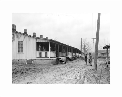 High Point, North Carolina - Housing. Row of shacks occupied by colored textile and furniture workers by Lewis Hine