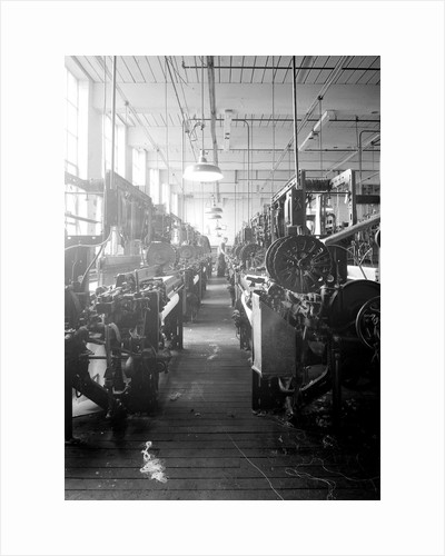 Paterson, New Jersey - Textiles. Looms, March 1937 by Lewis Hine