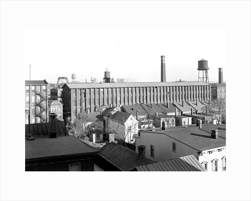 Paterson, New Jersey - Textiles. A view of part of the Barnett Silk Mill by Lewis Hine