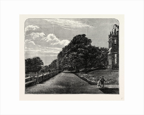 The South or Grand Terrace of the Mansion by Anonymous