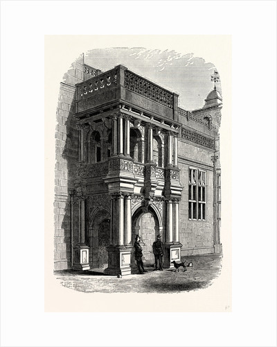 The Entrance Porch, West Front, Audley End by Anonymous
