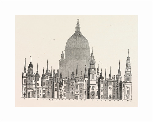 Parallel principal Towers Steeples built Sir Christopher Wren by Anonymous