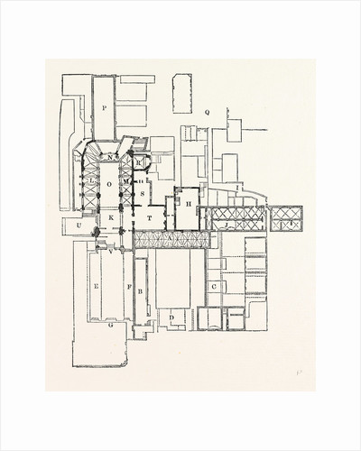 Plan Priory St. Bartholomew, London by Anonymous