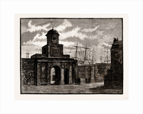 Entrance To The East India Docks, Blackwell, London by Anonymous