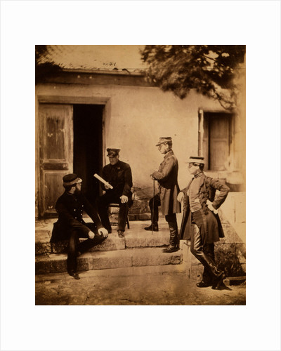 Lieutenant General Sir Harry Jones & Staff, Crimean War by Roger Fenton