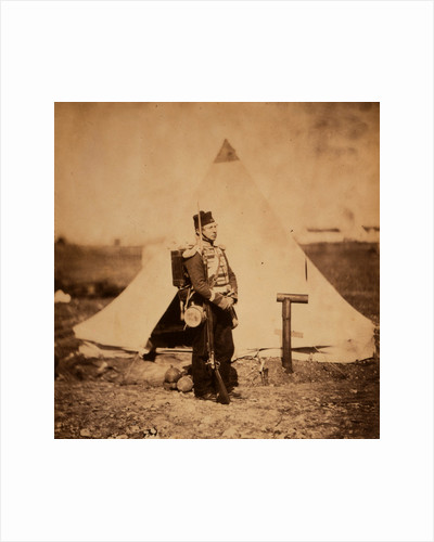 Private in full marching order, Crimean War by Roger Fenton