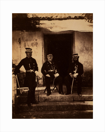 Brigadier General Lockyer & two of his staff, Crimean War by Roger Fenton