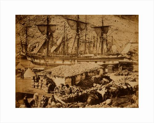 Balaklava harbour, the cattle pier, Crimean War by Roger Fenton