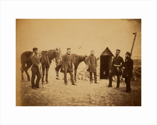 Brigadier-General Garrett & officers of his staff, Crimean War by Roger Fenton