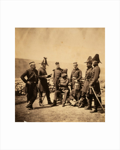 Lieutenant General Sir George Brown G.C.B. & officers of his staff by Roger Fenton