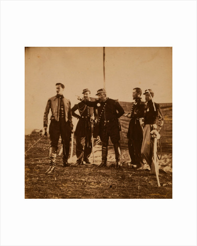 General Bosquet giving orders to his staff, Crimean War by Roger Fenton