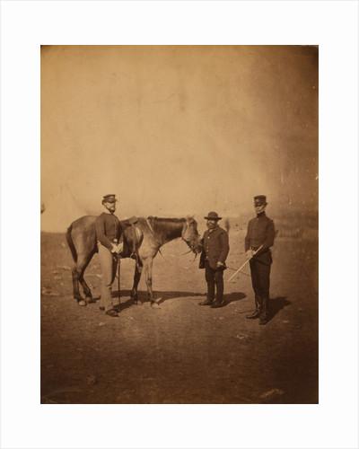 Captain Vam, friend & servant, 38th Regiment, Crimean War by Roger Fenton