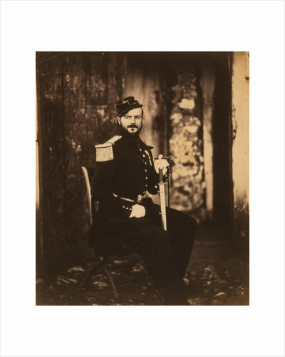 Captain Fay on General Bosquets staff, Crimean War by Roger Fenton