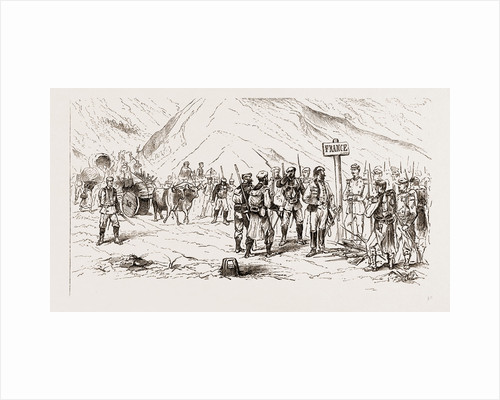 The End Of The Carlist War: Carlists And Their Families Crossing Into France At The Frontier Near Lesaca, Navarre by Anonymous