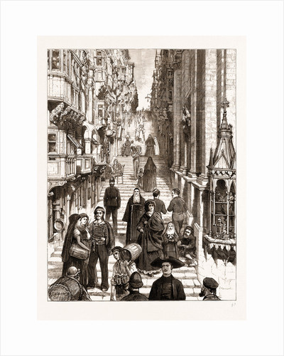 The Strada San Giovanni, 1876; those Cursed Streets Of Stairs by Anonymous