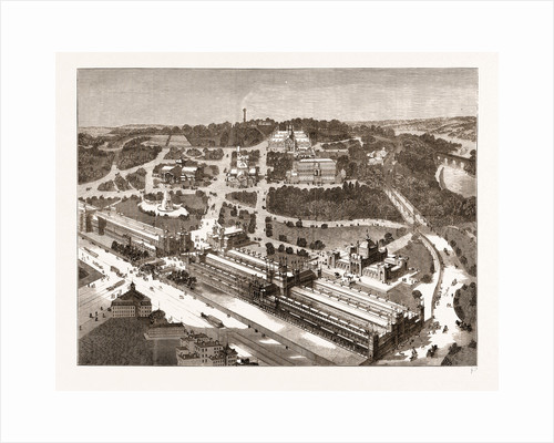 Bird's-eye View Of The American Centennial Exhibition And Grounds, US by Anonymous