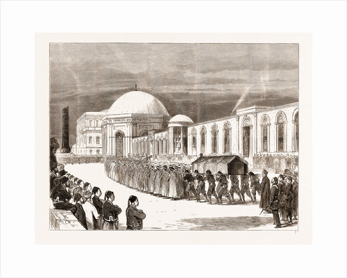 The Eastern Question: Funeral Procession Of The Late Sultan Entering The Mausoleum Of Sultan Mahmoud Il by Anonymous