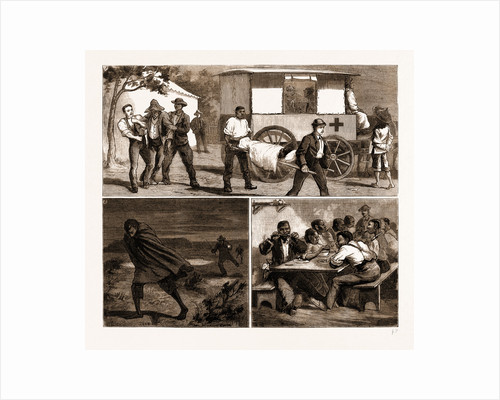 The Small Pox Epidemic At Cape Town: Sketches At The Temporary Hospital At renzskie's Farm, South Africa by Anonymous