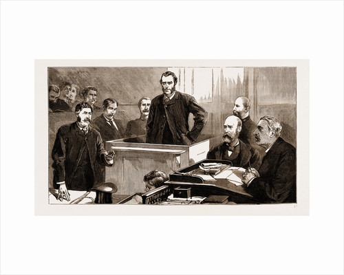 The Assassination Of Carey, Arrest Of O'Donnell At Port Elizabeth: Inside The Court House, Port Elizabeth, The Examination, 1883 by Anonymous