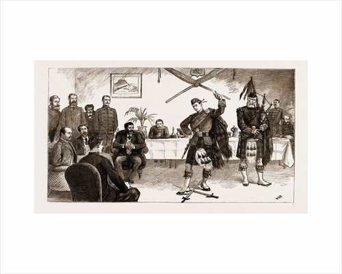 The Malagasy Envoys At Cape Town, South Africa: Entertainment At The Officers' Mess Of The First Argyll And Sutherland Highlanders, 1883 by Anonymous