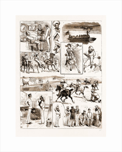 English Sports Abroad, A Naval Paper-chase At Maldonado, River Plate, 1883 by Anonymous