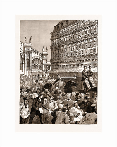 The Royal Carriage Leaving The Gare Du Nord: The Mob Hooting The King, Paris, France, 1883 by Anonymous