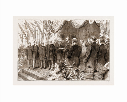 The Last Of The International Fisheries Exhibition: The Prince Of Wales Declaring The Exhibition Closed, UK, 1883 by Anonymous