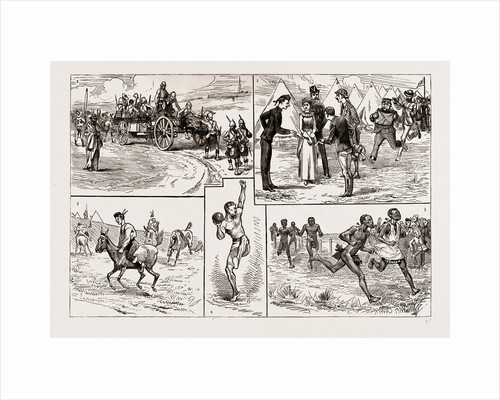 Sports At Fort Curtis, Etshowe, Zululand, 1886 by Anonymous