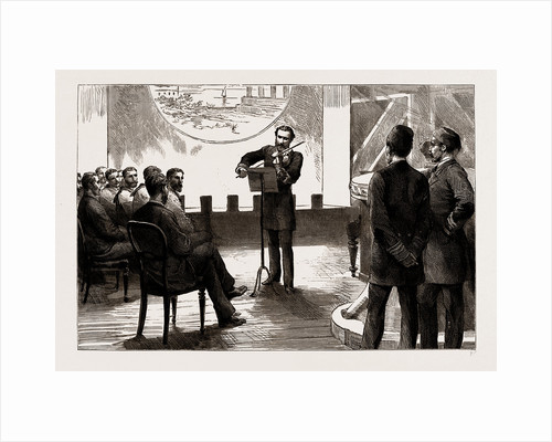 The Combined Fleet In Suda Bay: The Duke Of Edinburgh Plays The Violin, 1886 by Anonymous