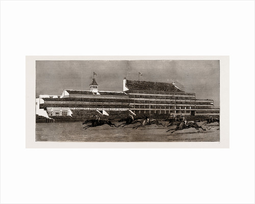 The New Royal Stand At Epsom, UK, 1886 by Anonymous
