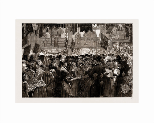 Fancy Fair At The Athenaeum, Camden Road, In Aid Of The North-west London Hospital, UK, 1886 by Anonymous