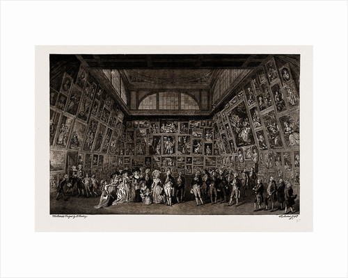 George III. And The Royal Family At The Private View Of The Royal Academy Exhibition, 1788, Uk by Anonymous
