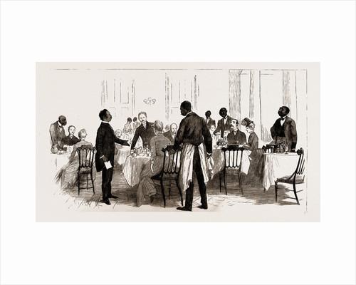 Scene In A Hotel, Washington, U.s.a., U.s., Us, Usa, United States, United States Of America, America, 1886 by Anonymous