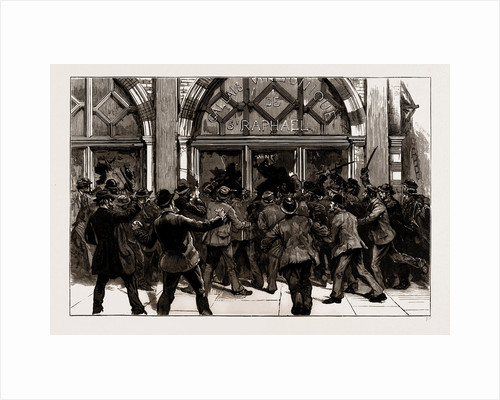 The Rioting In The West End Of London, February 8th, UK, 1886 by Anonymous